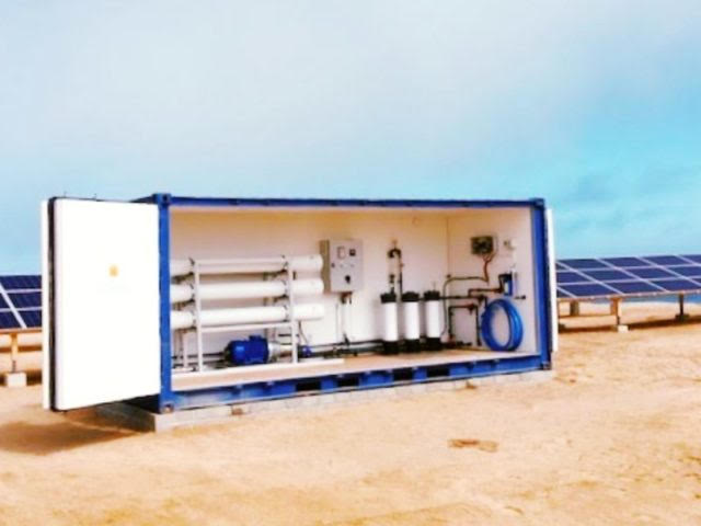 first ever fully solar-powered seawater desalination system